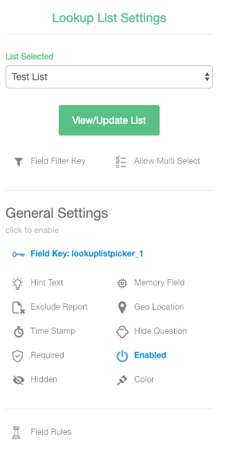 f35752eb1 NOTE: The Name field is required, you can set this once you select or  upload your Lookup List. The Name is the column that will be used to  populate the list ...